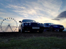 Jaguars on a club stand at the Silverstone Classic