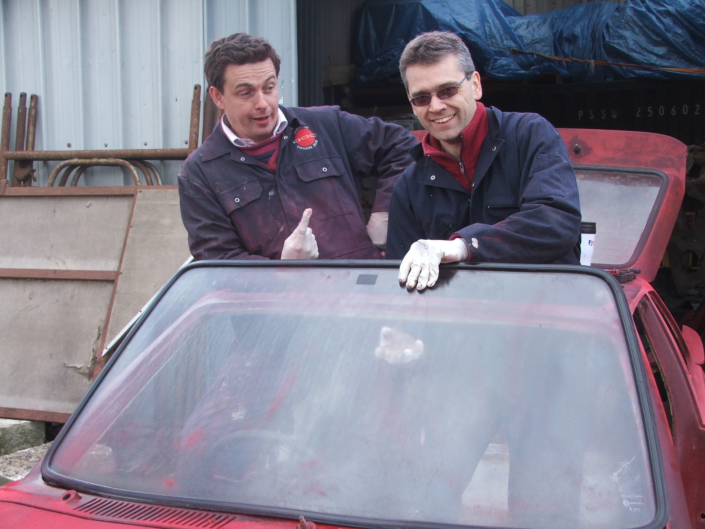 Eddie and Paul working on Quantum Coupé 003