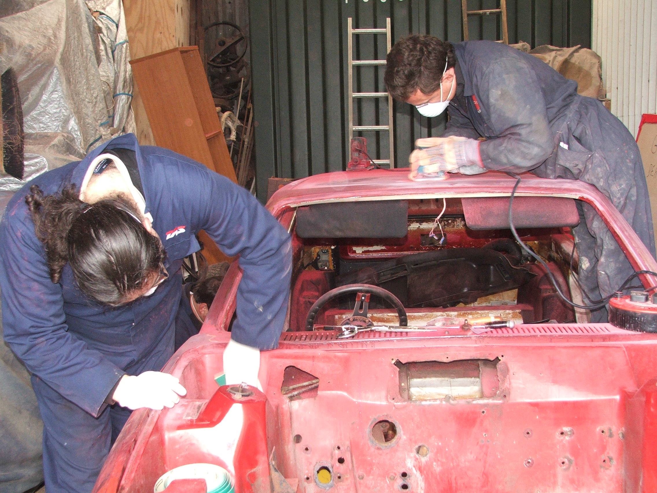 Chris Gray and Eddie Ruskin working hard on Quantum Coupé 003